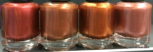 Carnelian, Spiced Pumpkin, Polished Copper and Coral Sand