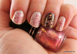 Easiest way to remove glitter nail polish.