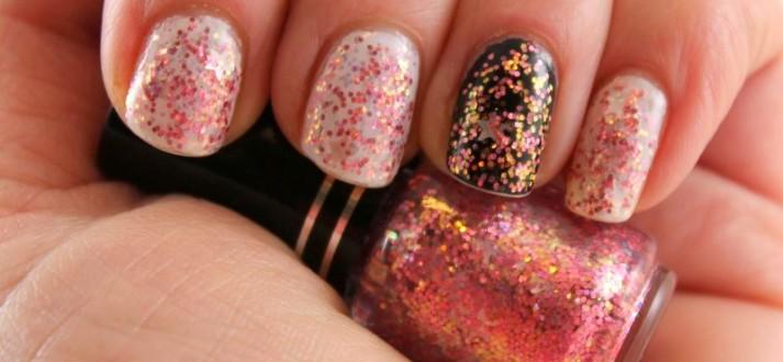 Easiest way to remove glitter nail polish.